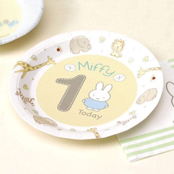 Baby Miffy 1st Birthday Paper Plates (8)